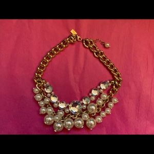 Lilly Pulitzer Pearl And Diamond Chunky Necklace